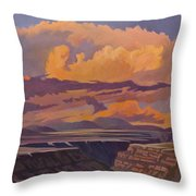 Taos Gorge - Pastel Sky Throw Pillow