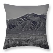 Taos In Black And White II Throw Pillow