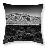 Taos In Black And White X Throw Pillow
