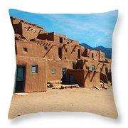 Taos Pueblo 4 Throw Pillow