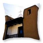 Taos Pueblo Church 2 Throw Pillow
