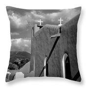 Taos Pueblo Church Throw Pillow
