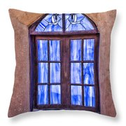Taos Pueblo Church Window Throw Pillow