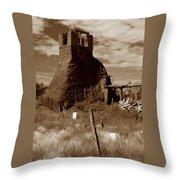 Taos Pueblo Graveyard Throw Pillow