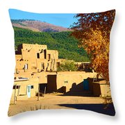 Taos Pueblo South In Autumn Throw Pillow