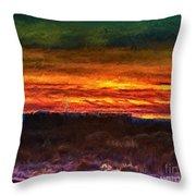 Taos Sunset Lx - Homage Turner Throw Pillow