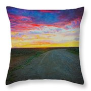 Taos Sunset On Rice Paper Throw Pillow