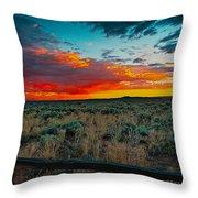 Taos Sunset Xi Throw Pillow