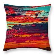 Taos Sunset Xix Throw Pillow