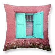 Taos Window I Throw Pillow