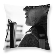 Tap And Stare Throw Pillow