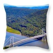 Bear Mountain Bridge 2 Throw Pillow