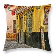 Tapas Bar In Sevilla Spain Throw Pillow