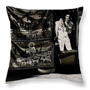 Tapestries Of  Elvis Presley  Hawai Concert Jesus Christ Sheep Horses Flags Armory Park Tucson Az Throw Pillow