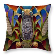 Tapestry Of Gods - Chicomecoatl Throw Pillow