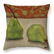 Tapestry Pears Throw Pillow
