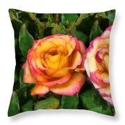 Tapestry - Roses And Thorns Throw Pillow
