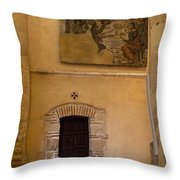 Tapestry Wall At Church Of The True Cross Throw Pillow