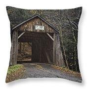 Tappan Covered Bridge Throw Pillow