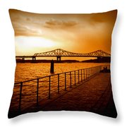 Tappan Zee Bridge I Throw Pillow