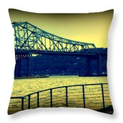 Tappan Zee Bridge II Throw Pillow