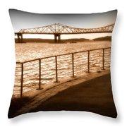 Tappan Zee Bridge Ix Throw Pillow