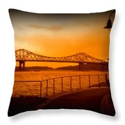 Tappan Zee Bridge Viii Throw Pillow