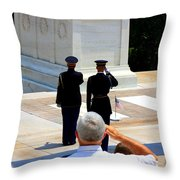 Taps At The Tomb Of The Unknown Throw Pillow