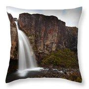 Taranaki Falls In Tongariro Np New Zealand Throw Pillow