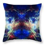Tarantula Nebula Reflection Throw Pillow by Jennifer Rondinelli Reilly - Fine Art Photography