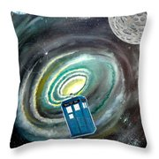 Tardis Throw Pillow by John Lyes