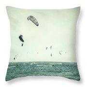 Tarifa Beach Throw Pillow