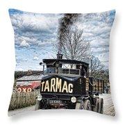 Tarmac Steam Wagon 1 Throw Pillow