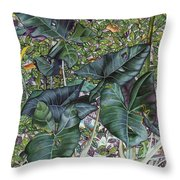 Taro Garden Throw Pillow
