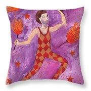 Tarot 1 The Juggler Throw Pillow