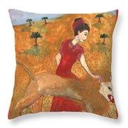 Tarot 11 Strength Throw Pillow