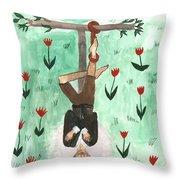 Tarot 12 The Hanged Man Throw Pillow