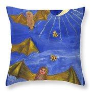 Tarot 18 The Moon Throw Pillow