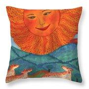 Tarot 19 The Sun Throw Pillow