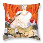 Tarot 20 Judgement Throw Pillow