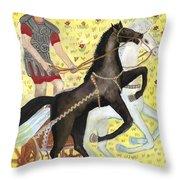 Tarot 7 The Chariot Throw Pillow