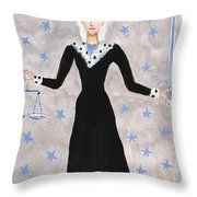 Tarot 8 Justice Throw Pillow