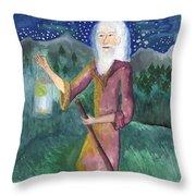 Tarot 9 The Hermit Throw Pillow
