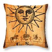 Tarot Card The Sun Throw Pillow by Cinema Photography