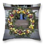 Tarpley Thompson Store Wreath Throw Pillow