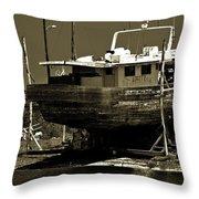 Tarpon Springs Sponge Boat Throw Pillow