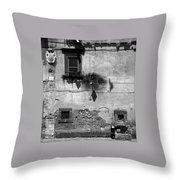Tarquinia Muro Con Stemma Throw Pillow