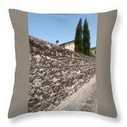 Tarquinia Muro Di Cinta Con Cipressi Throw Pillow