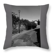 Tarquinia Scorcio Con Lampione Throw Pillow