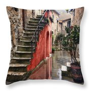 Tarquinian Red Stairs Throw Pillow